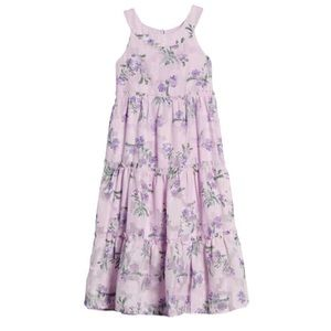 ZUNIE Flower Chiffon Dress